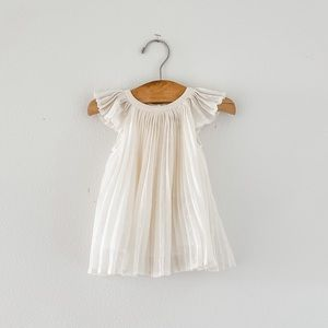 Baby gap pleated chiffon dress with dot detail